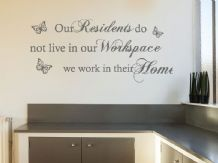 "Care Home Wall Sticker ""Our Residents..."" Wall Art Sticker, Decal, Transfer."